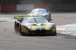 Villeneuve Chicane; #10 Belgian Racing Ford GT Matech: Milos Pavlovic, Martin Matzke