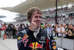 El ganador Sebastian Vettel, Red Bull Racing