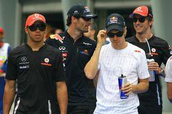 Lewis Hamilton with Sebastian Vettel