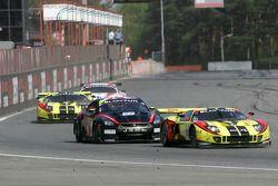 #10 Martin Matzke, Milos Pavlovic; Ford GT Matech; Belgian Racing; #22 Peter Dumbreck, Richard Westb