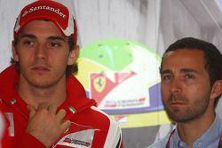 Jules Bianchi, Test Driver, Scuderia Ferrari and his manager Nicolas Todt