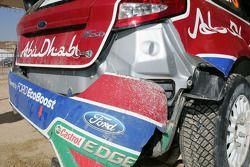 Машина Микко Хирвонена и Ярмо Лехтинена, Ford Fiesta RS WRC, BP Ford Abu Dhabi World Rally Team