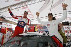Les vainqueurs Sébastien Ogier et Julien Ingrassia