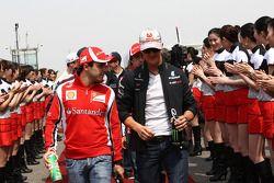 Felipe Massa, Scuderia Ferrari y Michael Schumacher, Mercedes GP