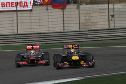 Lewis Hamilton, McLaren Mercedes e Sebastian Vettel, Red Bull Racing