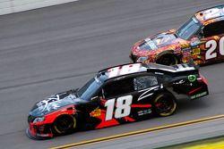 Race winner Kyle Busch and Joey Logano
