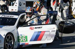Pitstop #56 BMW Team RLL BMW M3 GT: Dirk Müller, Joey Hand