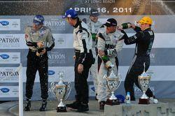 LMP podium: champagne