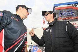 Top Sportsman rijders Ryan Ondrejko en Pro Stock rookie Buddy Perkinson