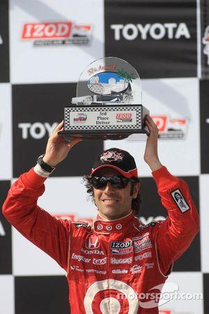 Second place Dario Franchitti, Target Chip Ganassi Racing
