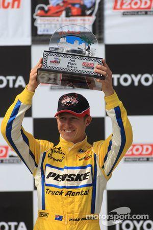 Third place Ryan Briscoe, Team Penske
