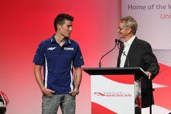 Ben Spies et Kevin Schwantz assistent à la conférence de presse annonçant le contrat de 10 ans qui fera venir le MototGP sur le nouveau Circuit of the Americas dès 2013