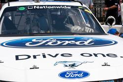 Carl Edwards' car sits on pit road