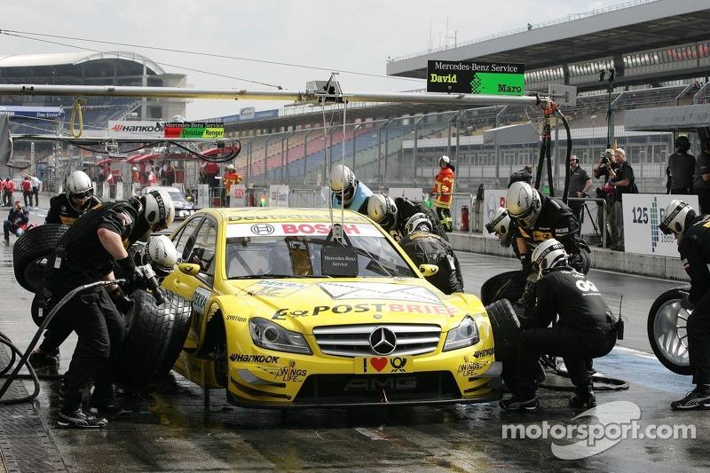 Pitstop for David Coulthard, Muecke Motorsport, AMG Mercedes C-Klasse