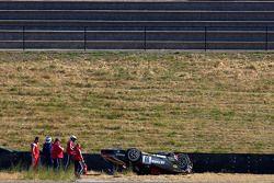 Zware crash #99 Ferrari of Ft. Lauderdale Ferrari 458 Challenge: Rafael Sportelli