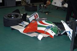 Damage from Rodolfo Lavin's car