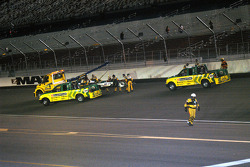Rodolfo Lavin's car leaves turn four via wrecker