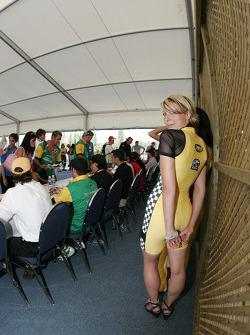 A charming Team Australia girl