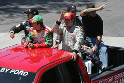 Drivers parade: Atlantic series race top finishers Antoine Bessette, David Martinez, Andreas Wirth and Justin Sofio
