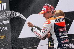 Podio: ganador de la carrera Dani Pedrosa