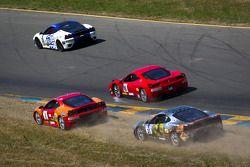 Start: #59 Algar Ferrari Ferrari 458 Challenge: John Farano, #26 Ferrari of Ft. Lauderdale Ferrari F