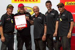 Podium: team award #91 Ferrari of Ft. Lauderdale Ferrari F430 Challenge crew, Guy Leclerc