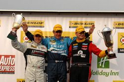 Round 9 podium 1st Jason Plato, 2nd Mat Jackson, 3rd Tom Boardman