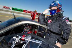 Justin Bell in de Ferrari 599XX van Scott Tucker