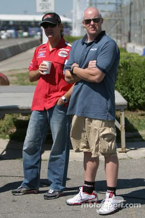 Molson Indy 2005 media event: Jimmy Vasser and Paul Tracy