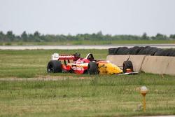 The wrecked car of Sébastien Bourdais