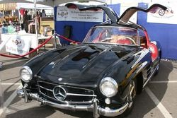 A vintage gull wing Mercedes race car