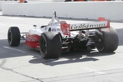 Oriol Servia on pit lane