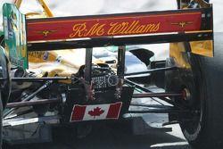 The rear wing of Alex Tagliani