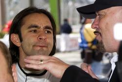 Paul Gentilozzi talks with his driver Antonio Pizzonia