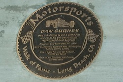 Walk of Fame - Long Beach, placa de Dan Gurney
