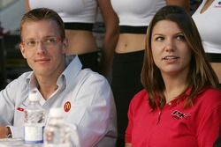 Ford Racing Festival on Crescent street: Sébastien Bourdais and Katherine Legge