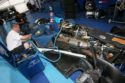 Cosworth engineer at work