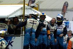 A.J's team celebrates the victory