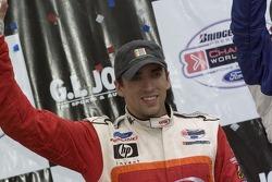 Victory podium: Justin Wilson