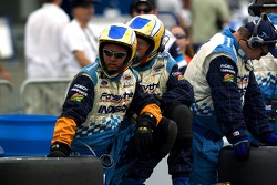 Forsythe crew members wait for the end of the race