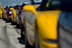Corvettes prêtes pour la parade des pilotes