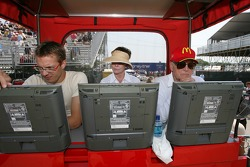 Sébastien Bourdais, Joanne Woodward and Paul Newman