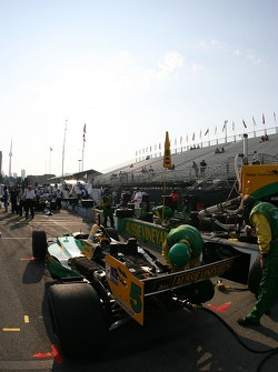 Team Australia crew members at work