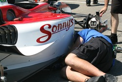 Dale Coyne Racing crew member at work
