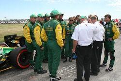 Team Australia team members on the grid