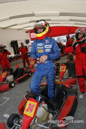 Go-kart celebrity race: Adrian Carrio
