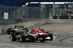 Dan Clarke and Justin Wilson battle