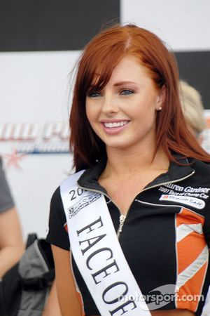 Visage de Lauren Gardner Miss Champ Car