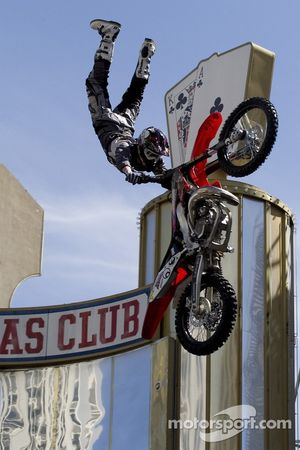 Freestyle motorbike show