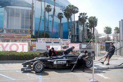 Pacific Coast Motorsports team unloads Alex Figge's car